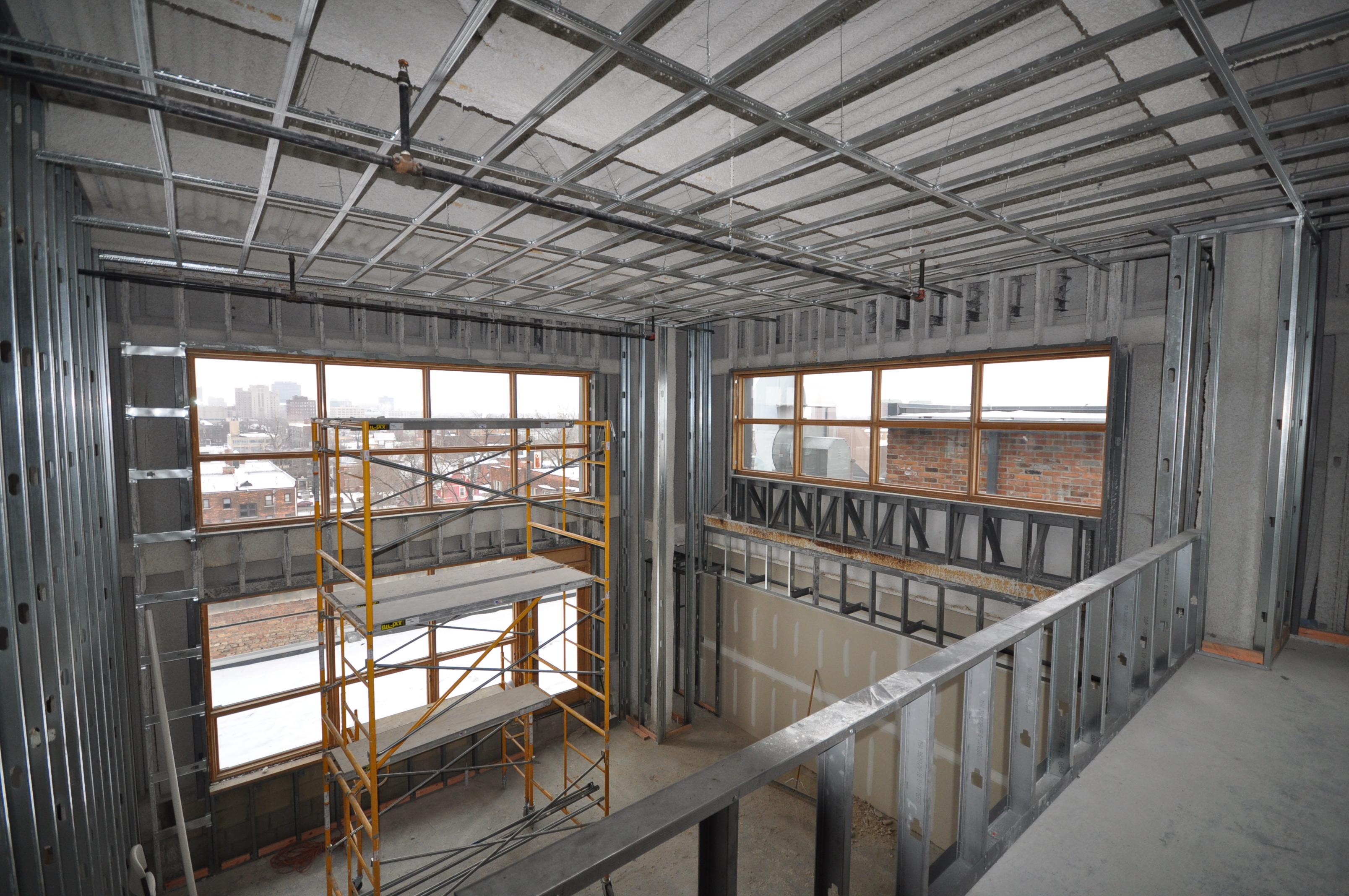 Willys overland lofts urban living update for Loft floor construction